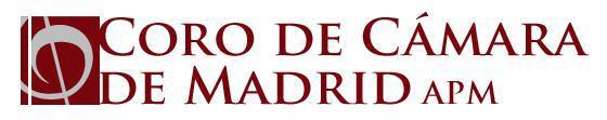 CORO DE CÁMARA DE MADRID LOGO