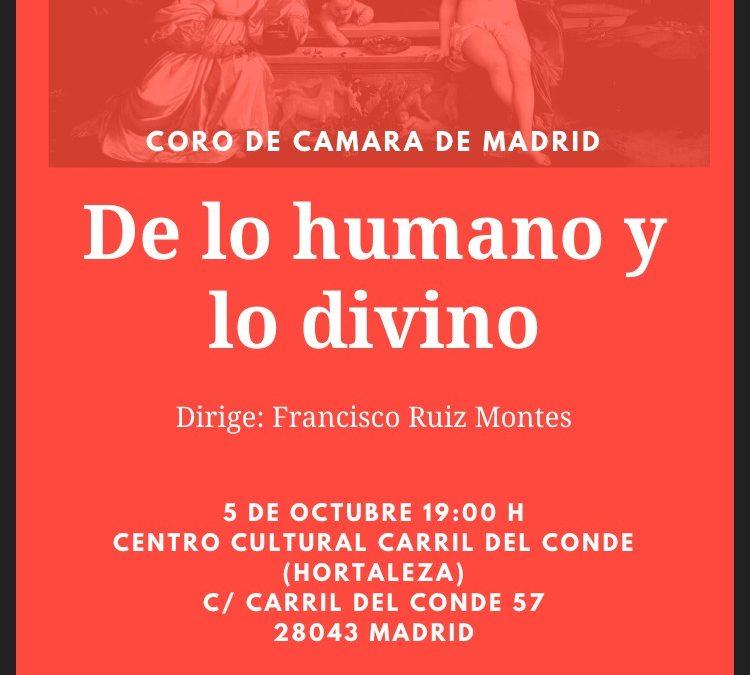 ¡Próximo concierto! De lo humano y lo divino